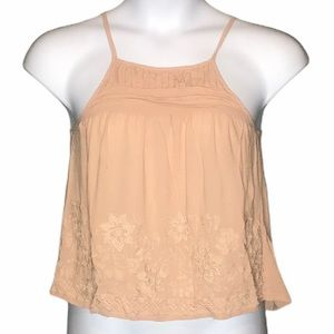 Chloe & Katie dusty pink XS embroidered tank